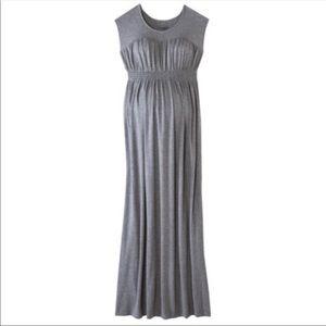 Grey Maternity Maxi Dress
